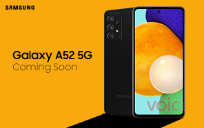 Samsung Galaxy A52 5G Leaked in an Official Marketing Image; Should Be Launching Soon