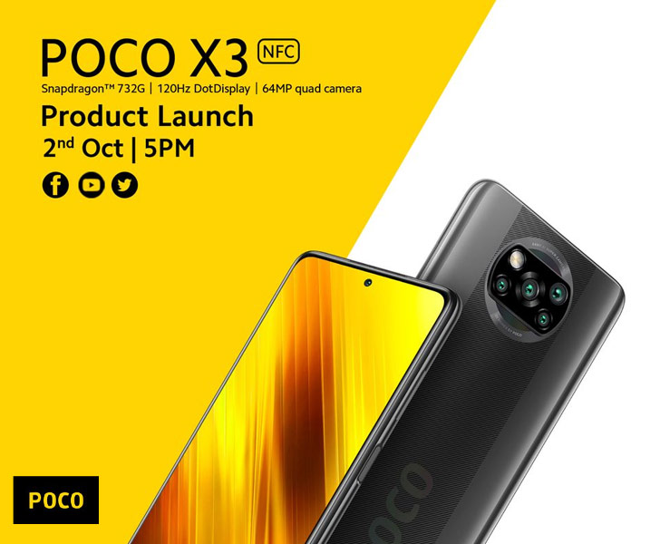 Xiaomi Poco X3 Nfc Is Coming To Pakistan On October 2 Meet Xiaomi S Latest Value Sub Flagship Whatmobile News