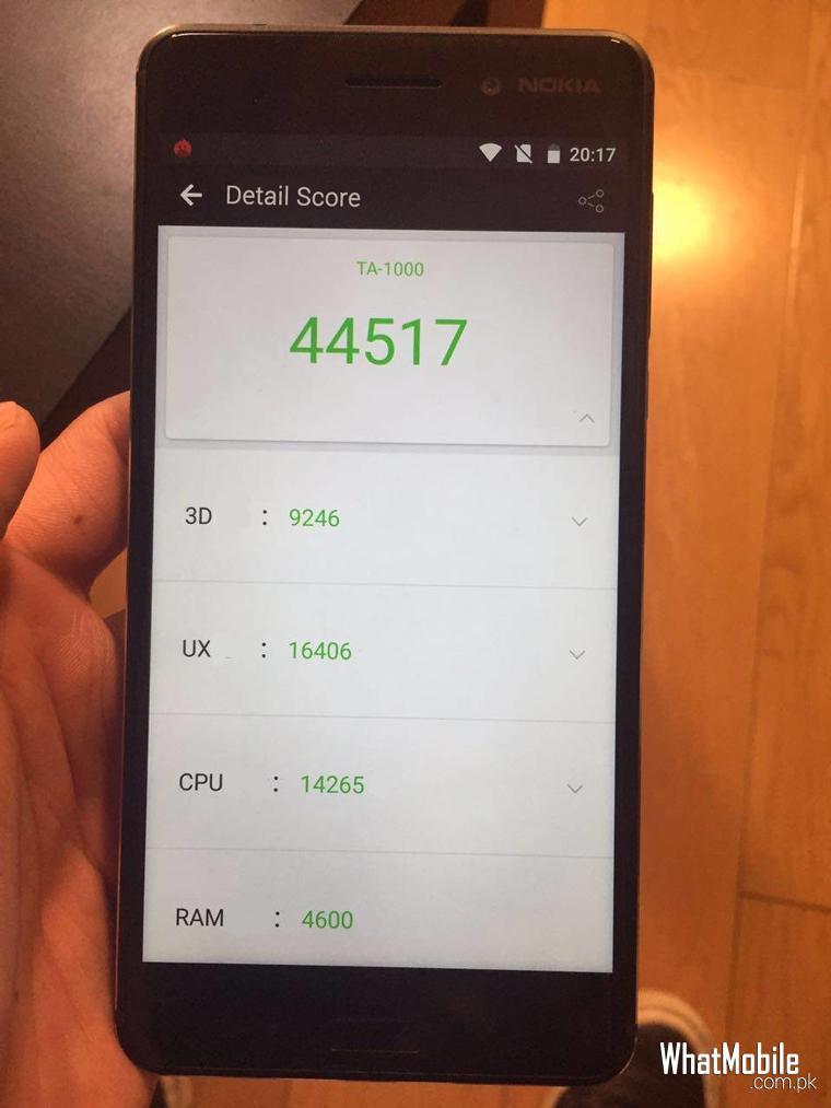 Nokia 6 benchmarks result