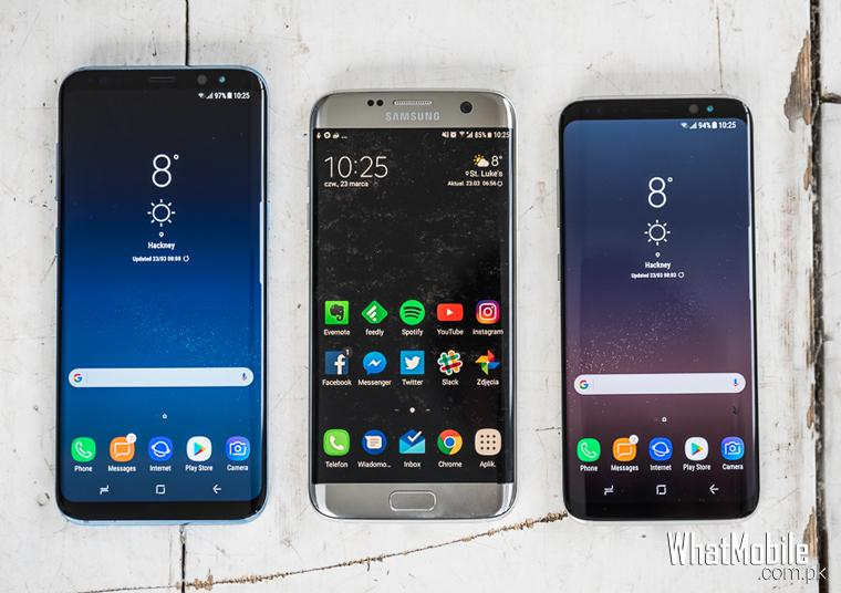 Samsung S8, S8+ & S7 comparison