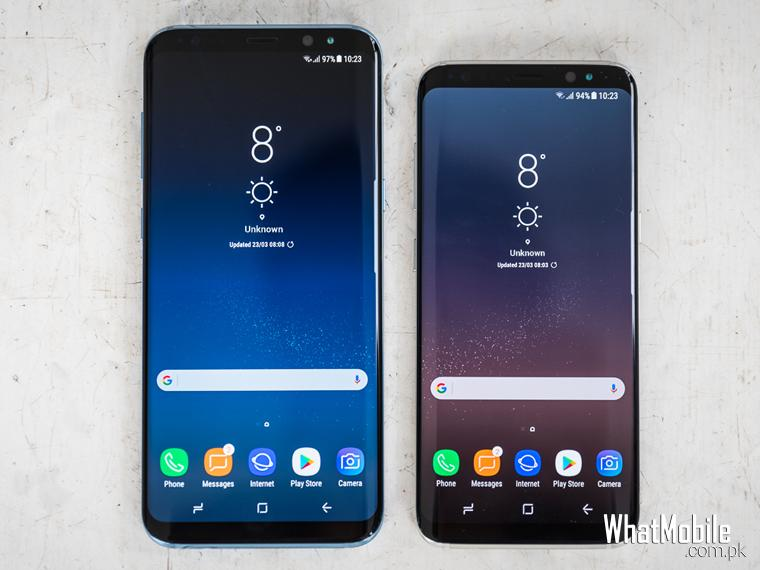 Samsung S8 and S8+ side by side