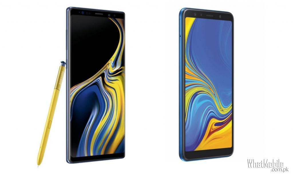 Samsung Galaxy Note 9 Vs Galaxy A7 2018
